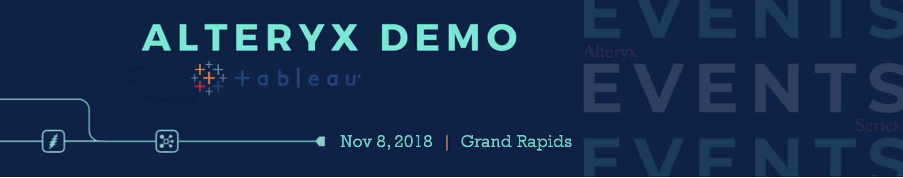 Alteryx + Tableau Demo Event