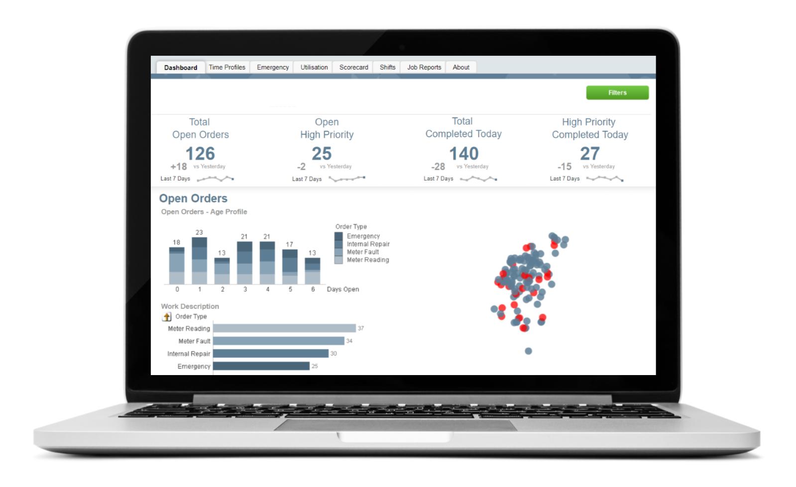 QlikView-workforce management dashboard
